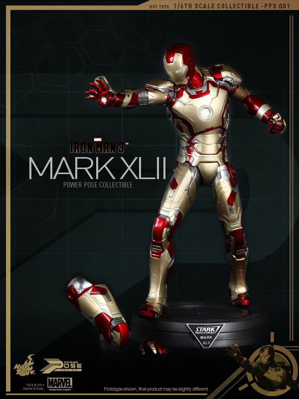 Preview | Hot Toys: Iron Man Mk XLII (Power Pose Series) (10)