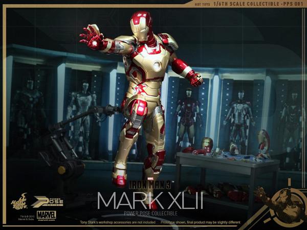 Preview   Hot Toys: Iron Man Mk XLII (Power Pose Series) (16)
