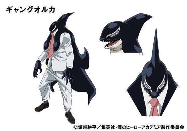 Shuhei Matsuda como Gang Orca, o #10 pro hero, Quirk --> Orcinus