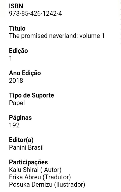 The_Promised_Neverland_pela_Panini