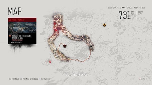 Este é o mapa de Days Gone