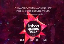 Lisboa Games Week 2019 de 21 a 24 de Novembro