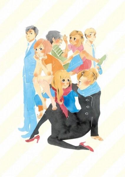 Imagem promocional do anime de Happy-Go-Lucky Days (Dounika Naru Hibi)