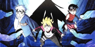 Imagem promocional do novo arco do anime de Boruto que começa em Janeiro