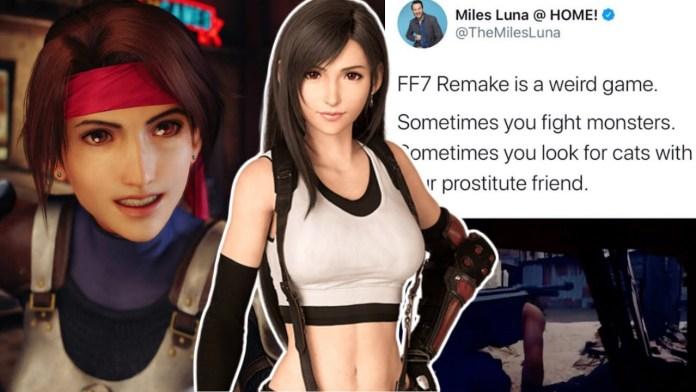 Criador de RWBY chama Tifa de Final Fantasy VII Remake de prostituta