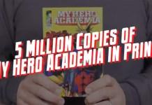 Mangá My Hero Academia com 5 milhões de cópias nos USA