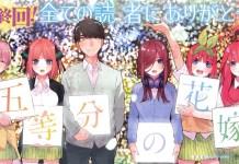 Gotoubun no Hanayome 2 adiado para 2021