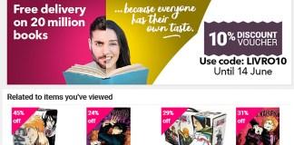 10% de desconto e portes grátis no Book Depository até 14 de Junho