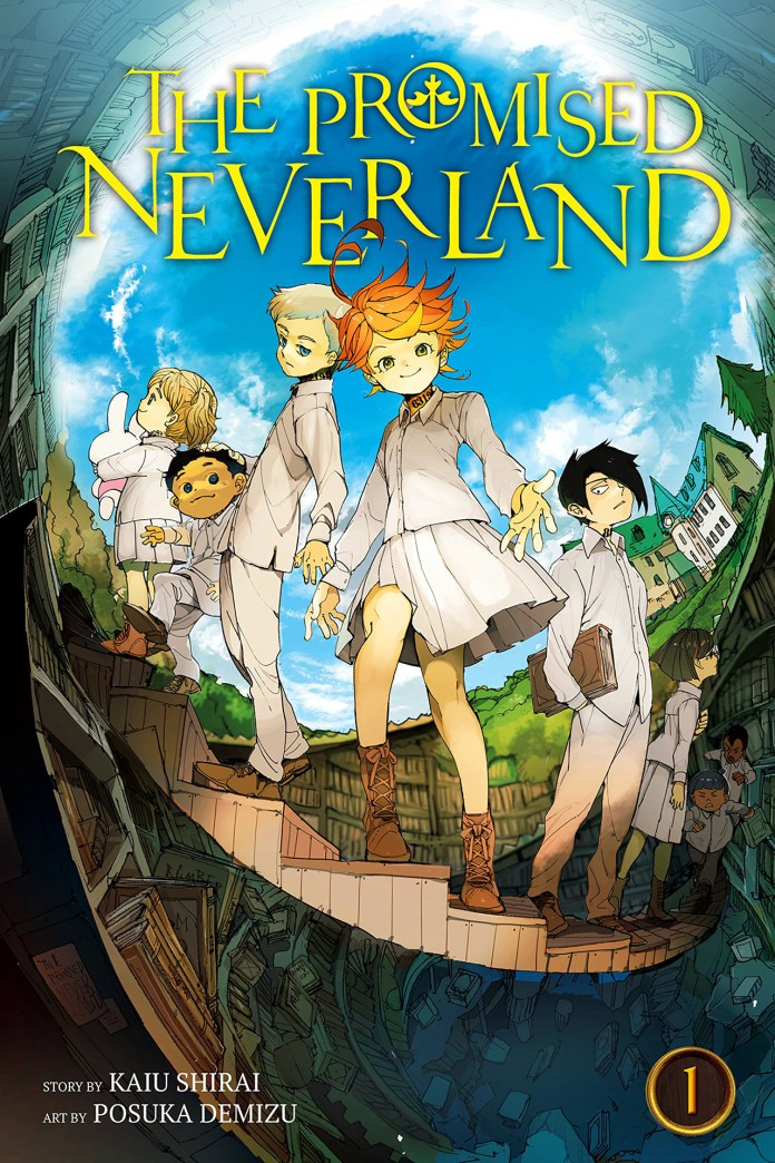 Capa do volume 1 de Yakusoku no Neverland (The Promised Neverland)