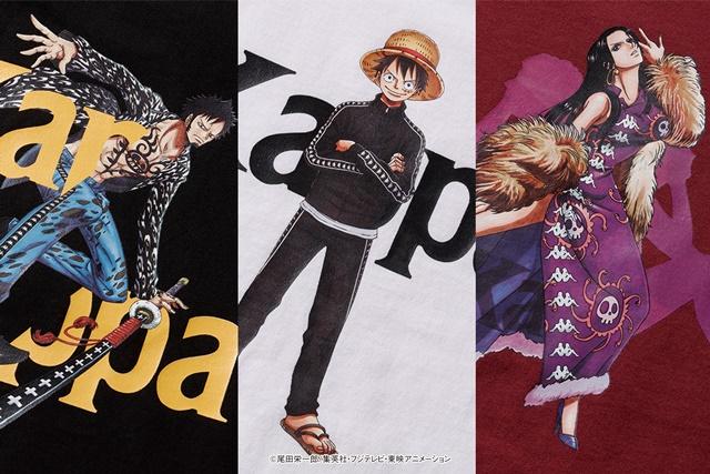 Kappa anuncia 2ª linha de roupa baseada em One Piece com Luffy, Law e Hancock