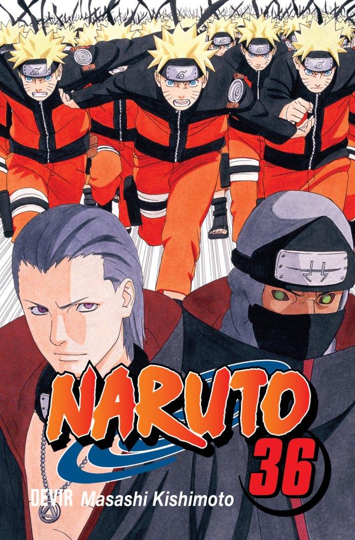 Capa do volume 36 de Naruto pela editora Devir