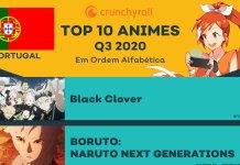 10 animes mais vistos em Portugal na Crunchyroll na temporada de Verão 2020