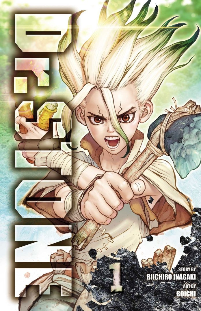 Capa do volume 1 de Dr. Stone