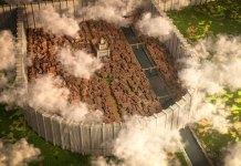 Attack on Titan recria Shiganshina