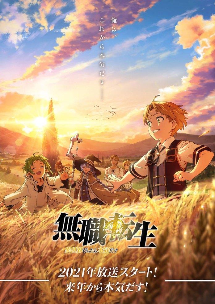 Imagem promocional de Mushoku Tensei: Isekai Ittara Honki Dasu (Mushoku Tensei: Jobless Reincarnation)