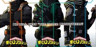 My Hero Academia 3 mosqueteiros