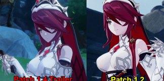 Jogadores de Genshin Impact repararam numa mudança no design de Rosaria