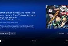 Ups! Filme anime de Kimetsu no Yaiba esteve disponível na PlayStation Store