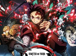 Este é o Poster português de Demon Slayer – Kimetsu No Yaiba – O filme: Comboio Infinito