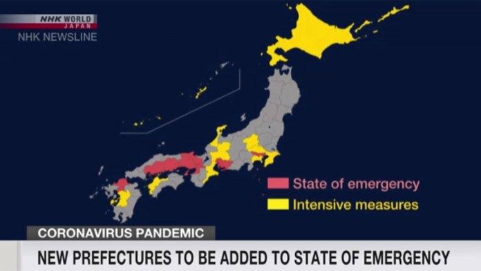 Japão adiciona Hokkaido, Okayama e Hiroshima ao estado de emergência
