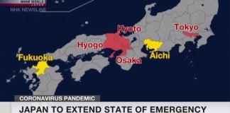 Japão prolonga estado de emergência até 31 de maio