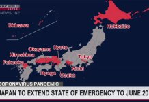 Governo japonês estendeu o estado de emergência até 20 de junho