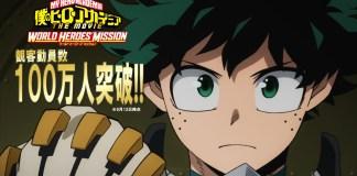 1 milhão de pessoas já assistiu a My Hero Academia: WORLD HEROS MISSION
