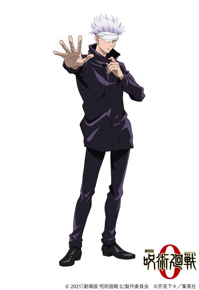 Satoru Gojou do filme anime Jujutsu Kaisen 0