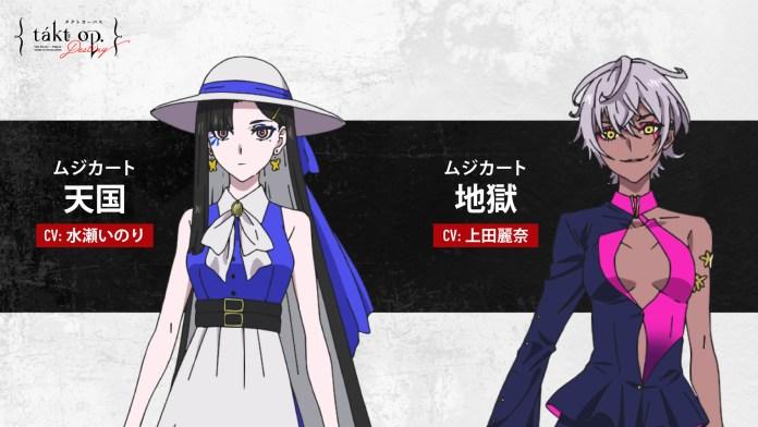 Inori Minase como Heaven e Reina Ueda como Hell