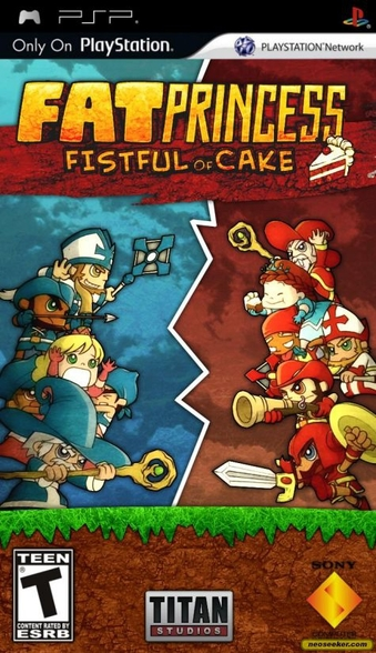 Fat Princess Fistful of Cake Review - PlayStation Portable Box Art