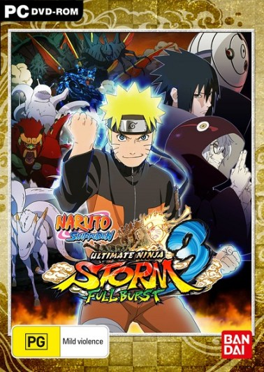Naruto Shippuden Ultimate Ninja Storm 3 Full Burst Review Box Art