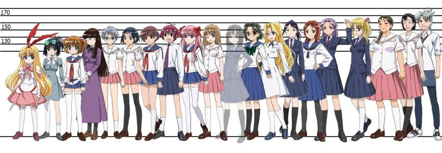 Old-School-Female-Anime-Characters-Height-Comparison-Chart