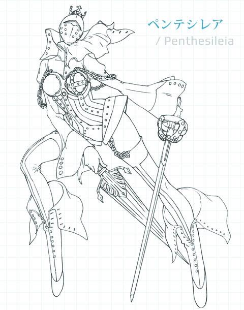 Persona-3-the-Movie-#3-Falling-Down-Mitsuru-Kirijo-Persona-Penthesileia