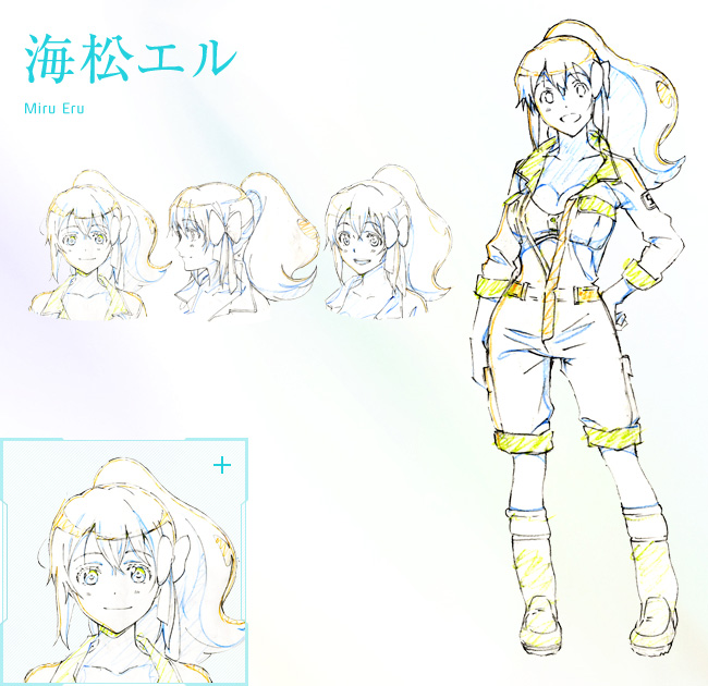 Plastic-Memories-Anime-Character-Design-Eru-Miru