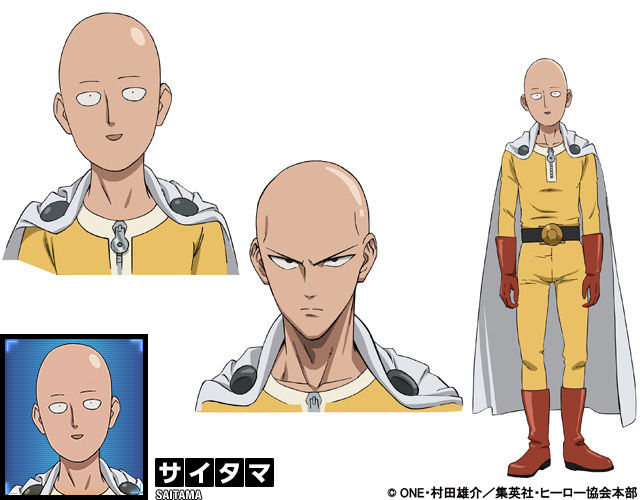 One Punch Man Anime Character Design Saitama