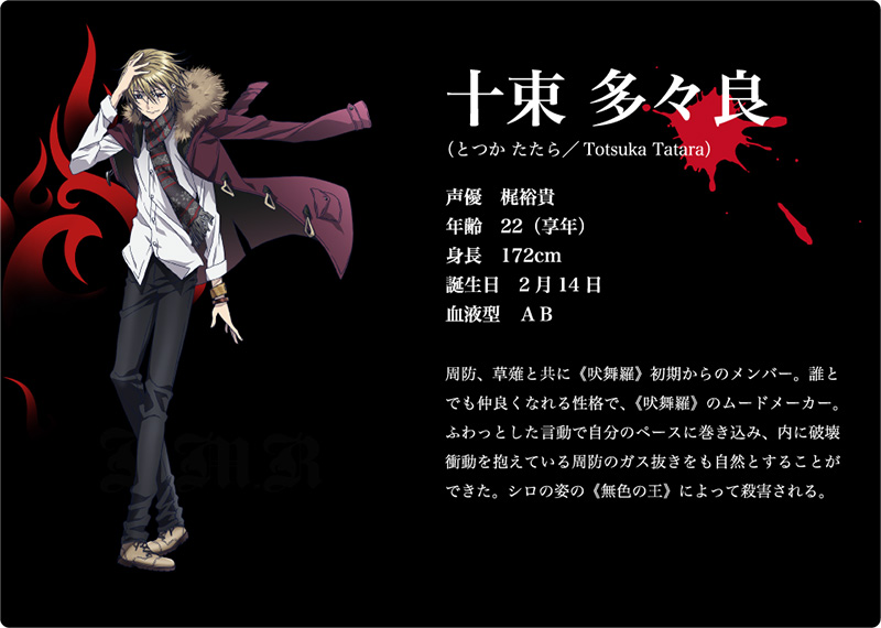 K-Return-of-Kings-Character-Design-Tatara-Totsuka