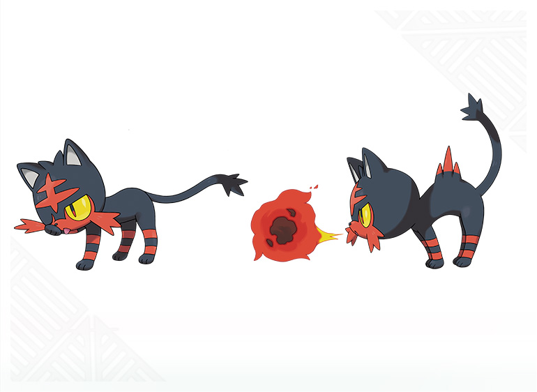 Pokemon-Sun-Moon-Starter-Litten-Move