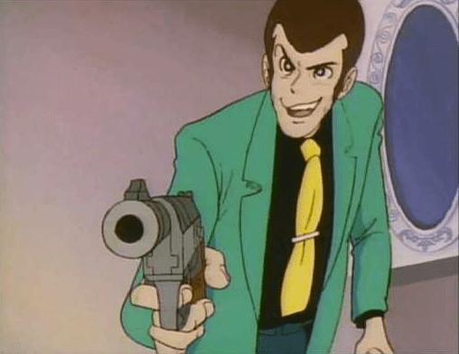 Lupin has a gun