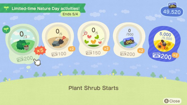 Animal Crossing: New Horizons Nature Day Nook Miles+
