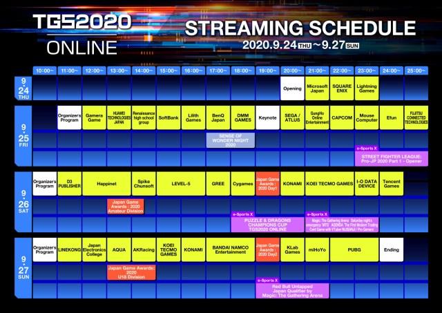 Tokyo Game Show 2020 Schedule