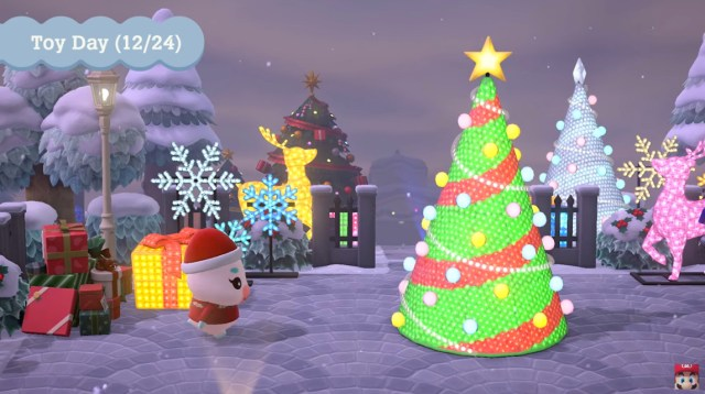 Screenshot from game Animal Crossing: New Horizons Winter Update