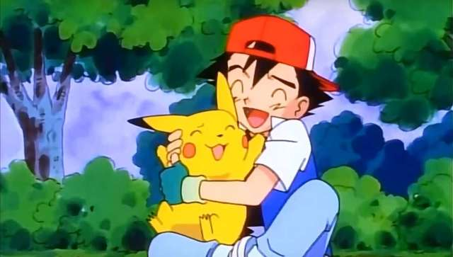 Screenshot from the Pokemon anime opening theme