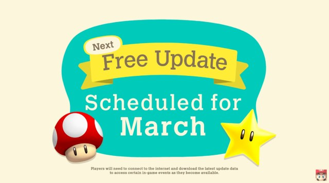 Animal Crossing New Horizons, Mario in March