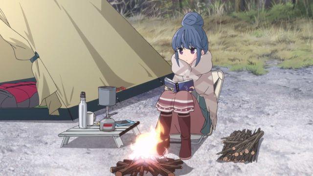 Rin from Yuru Camp, Camping Solo