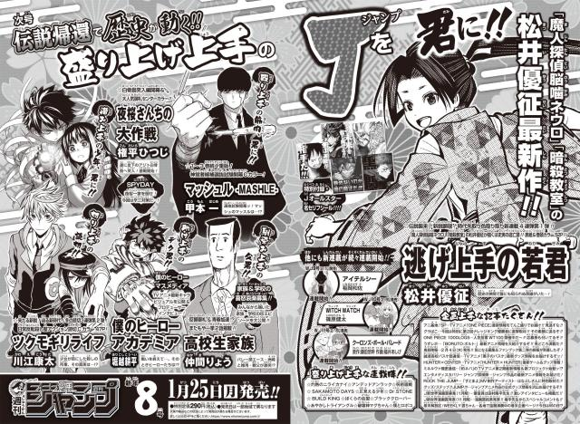 Previous of January Jump line-up changes