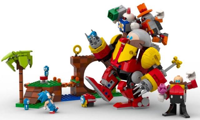 Sonic the Hedgehog LEGO fan-made set