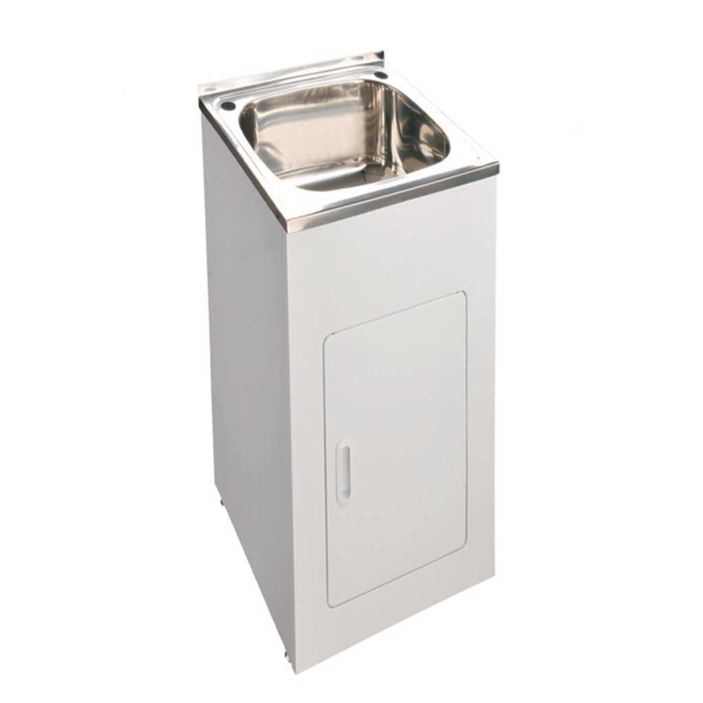 Laundry Tub Compact 455x555x870 35L  OTC Tiles  Bathroom