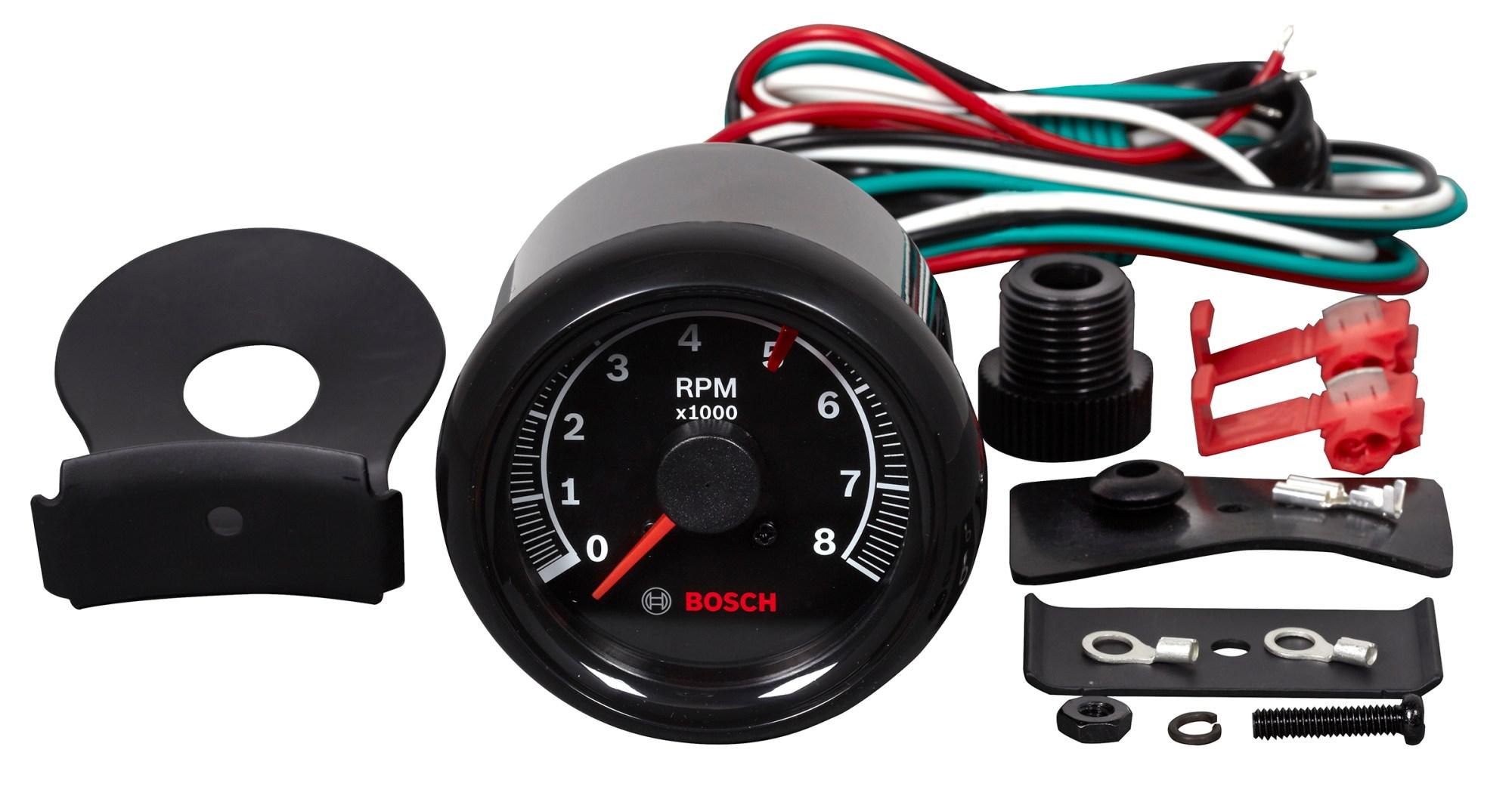 hight resolution of sport ii 2 5 8 quot tachometer black face fst 7906 otc tools new sun tachometer bosch tachometer wiring