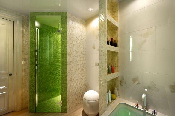 Проверка качества укладки плитки в ванной