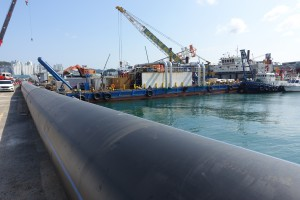 1 MW gross OTEC plant just before deployment offshore Busan, South Korea